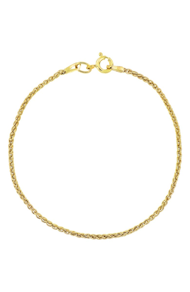 BONY LEVY 14K Gold Thin Snake Chain Bracelet, Main, color, YELLOW GOLD