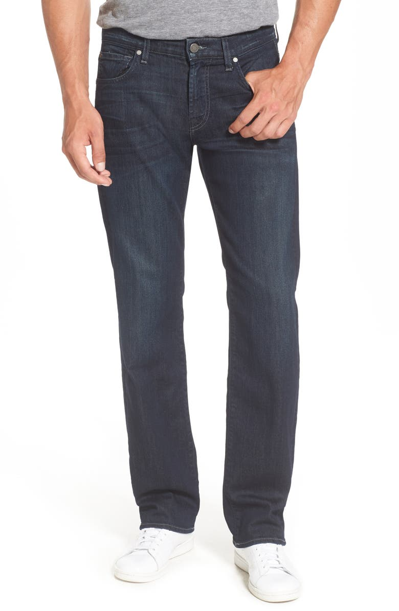 7 FOR ALL MANKIND <sup>®</sup> Airweft - Austyn Relaxed Straight Leg Jeans, Main, color, PERENNIAL