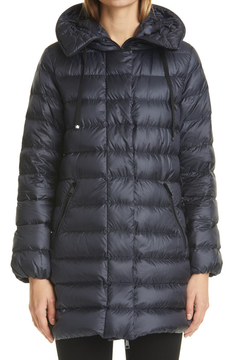 MONCLER Gnosia Water Resistant Down Puffer Coat, Main, color, NAVY