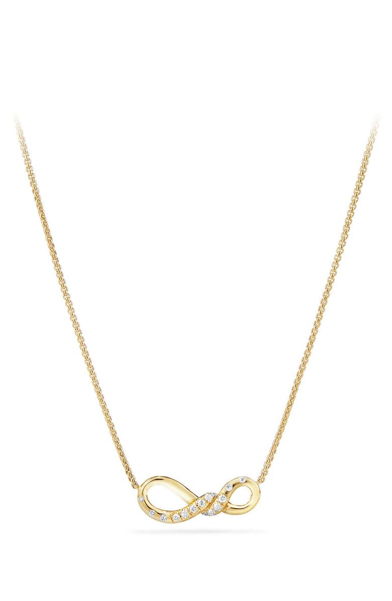 DAVID YURMAN Continuance Pendant Necklace in 18K Gold with Diamonds, Main, color, 710