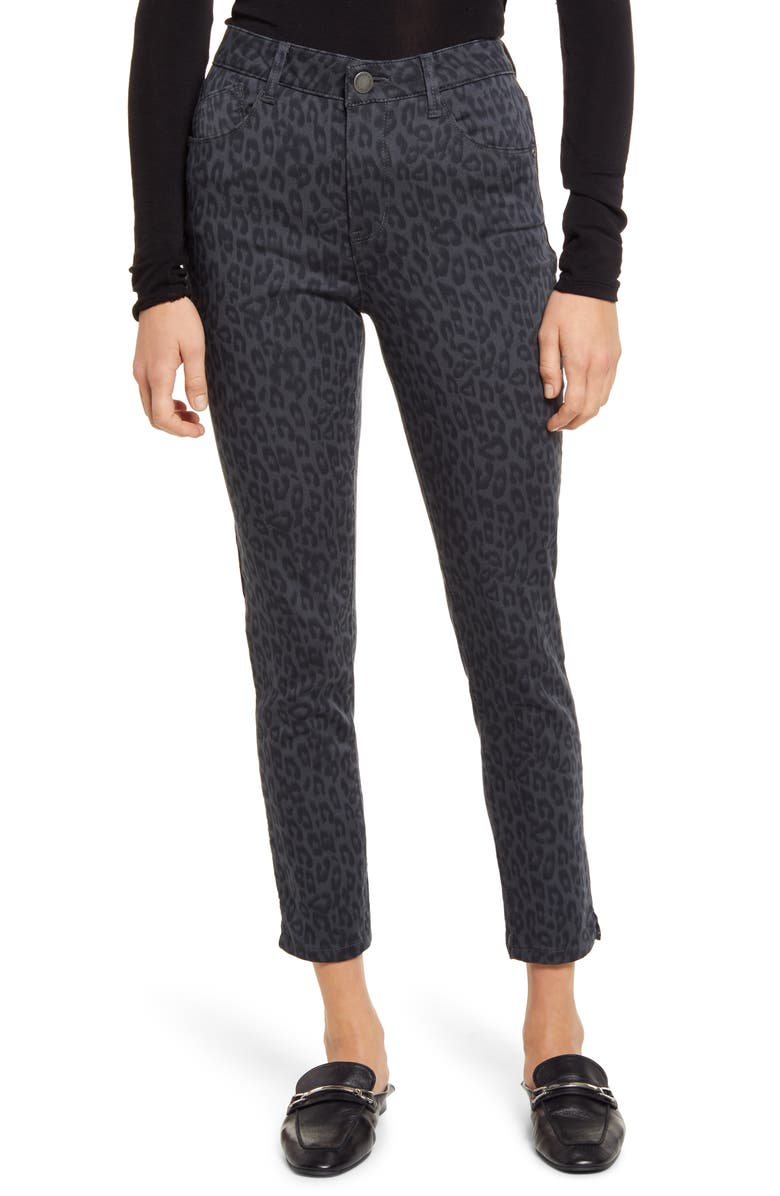 WIT & WISDOM High Waist Ankle Skinny Jeans, Main, color, CHARCOAL