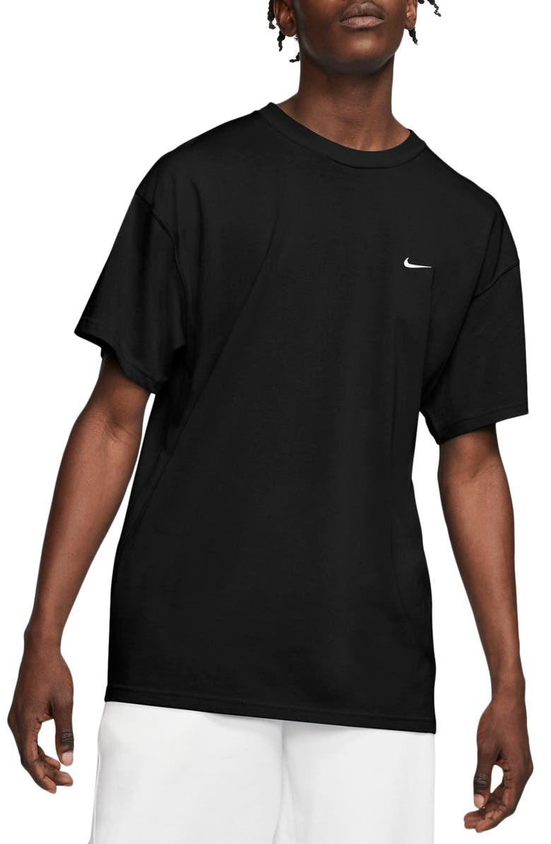 NIKE NikeLab Crewneck T-Shirt, Main, color, BLACK/ WHITE