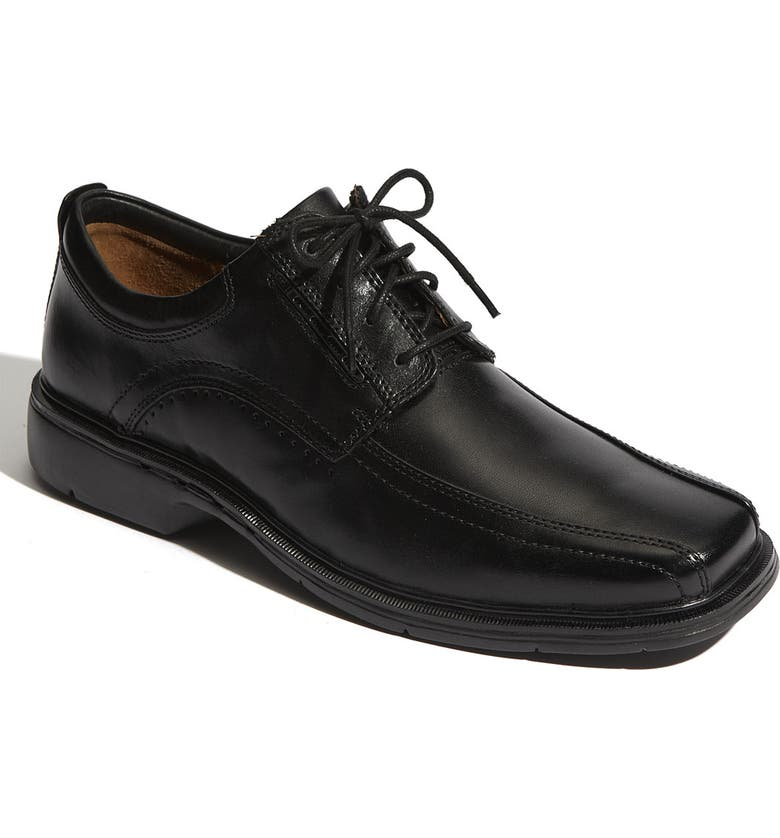 CLARKS<SUP>®</SUP> 'Un.Kenneth' Oxford, Main, color, BLACK LEATHER