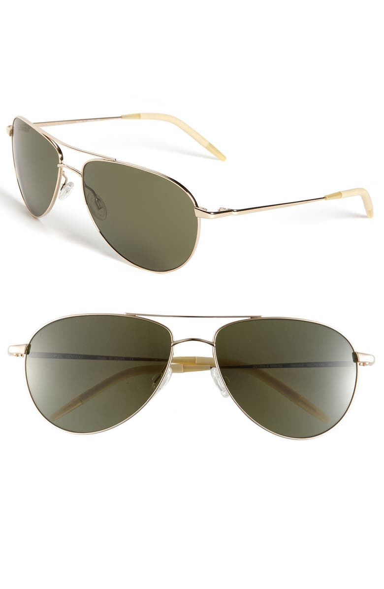 OLIVER PEOPLES 'Benedict' 59mm Aviator Sunglasses, Main, color, 711