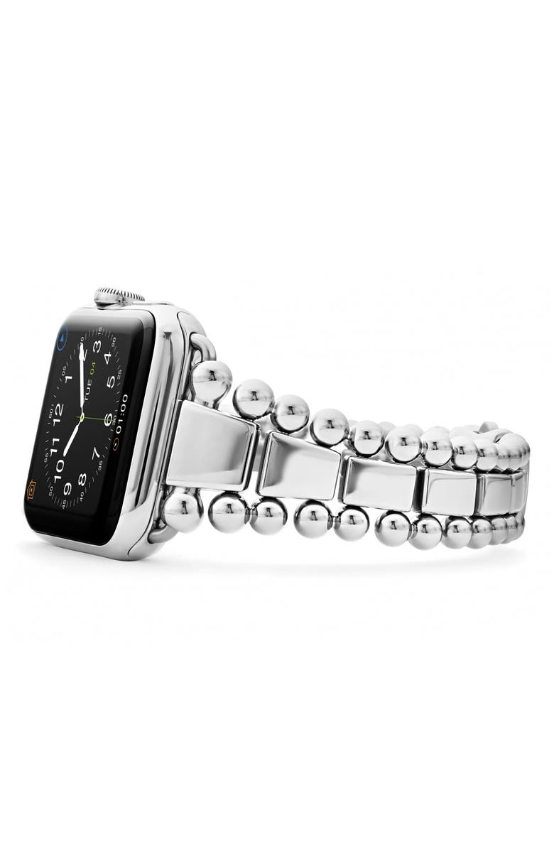LAGOS Smart Caviar Stainless Steel Watchband for Apple Watch<sup>®</sup>, Main, color, Silver