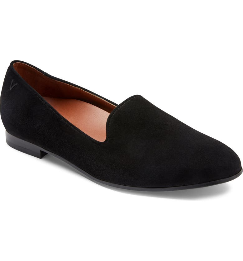 VIONIC Willa Loafer, Main, color, BLACK SUEDE