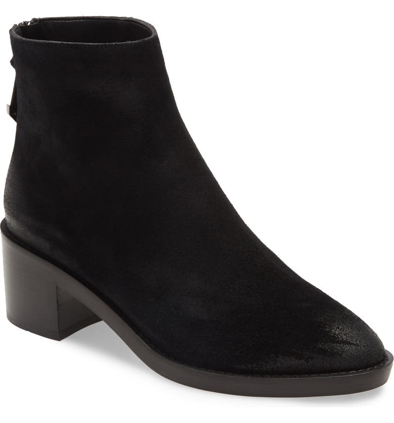 COLE HAAN Taylor Waterproof Bootie, Main, color, BLACK SUEDE