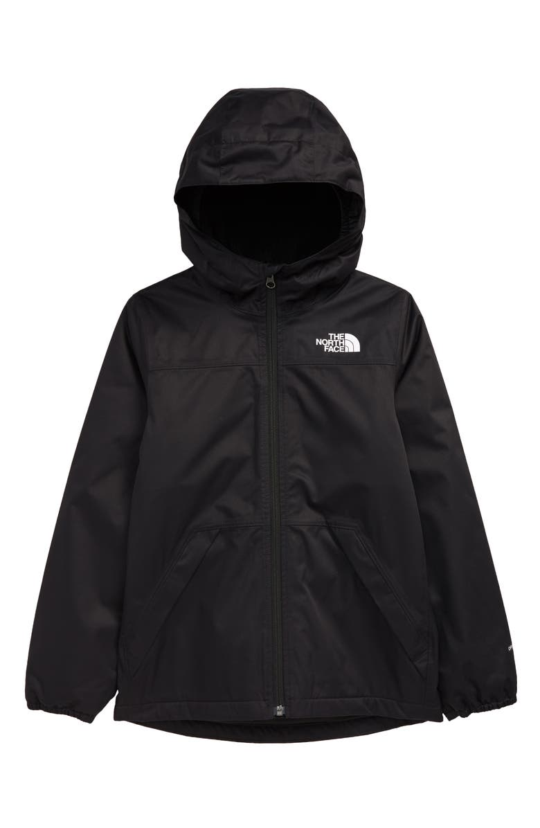 THE NORTH FACE Kids' Warm Storm Waterproof Hooded Rain Jacket, Main, color, 001