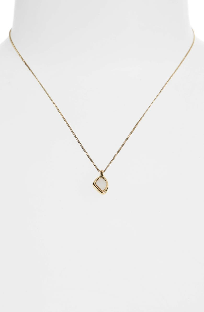 JENNY BIRD Cala Mother-of-Pearl Pendant Necklace, Main, color, HIGH POLISH GOLD