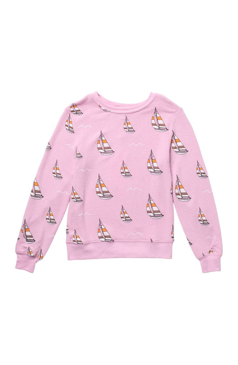 WILDFOX Sail On Knit Pullover, Main, color, ORCHID