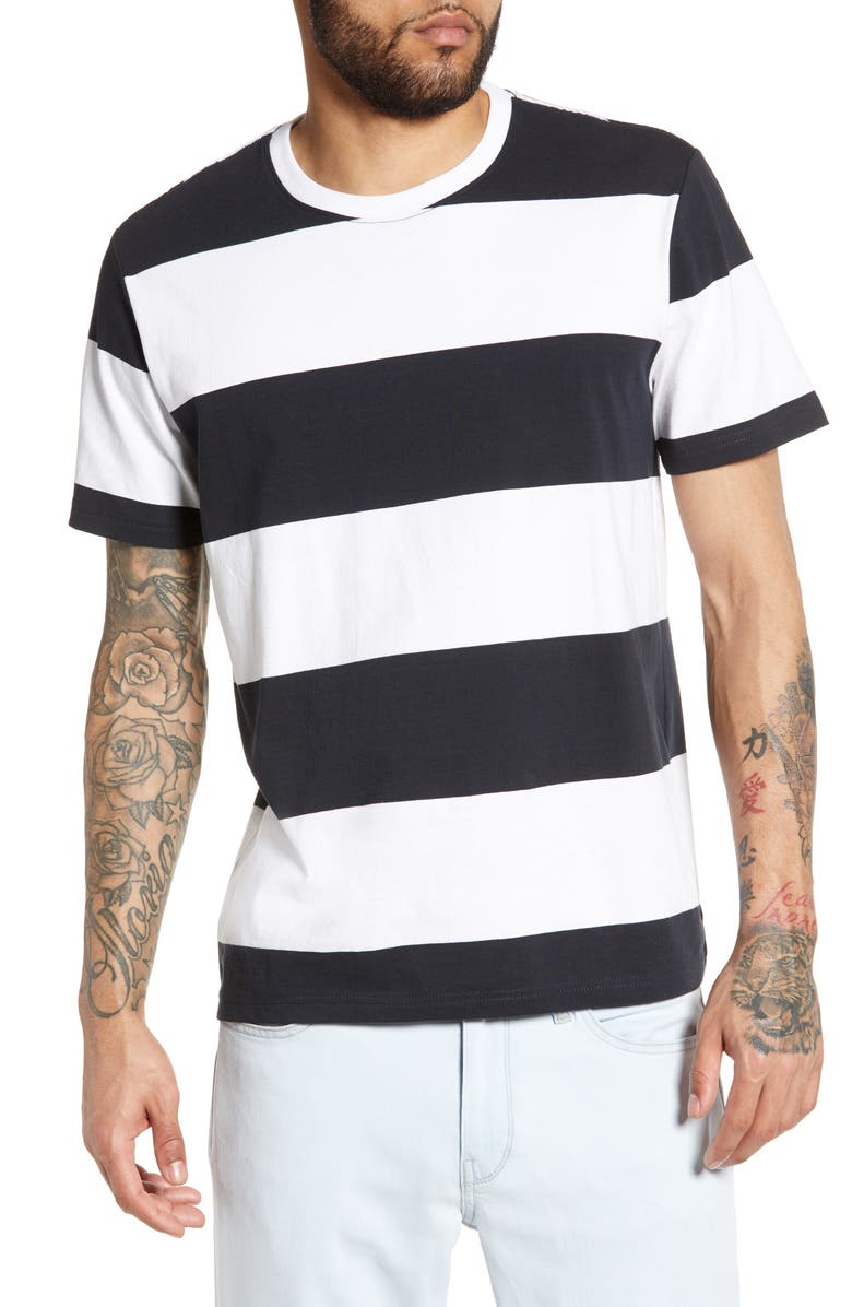 THE RAIL Bold Stripe T-Shirt, Main, color, 001