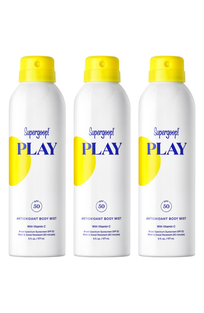 SUPERGOOP!<SUP>®</SUP> Supergoop! Full Size Play Antioxidant Body Mist SPF 50 Sunscreen, Main, color, 000