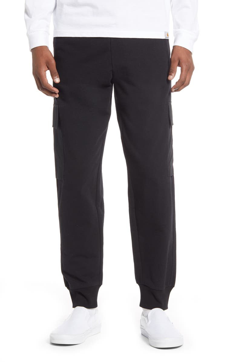 CARHARTT WORK IN PROGRESS Klicks Cotton Blend Joggers, Main, color, 001