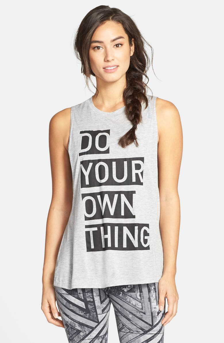 REEBOK Graphic Muscle Tee, Main, color, 069