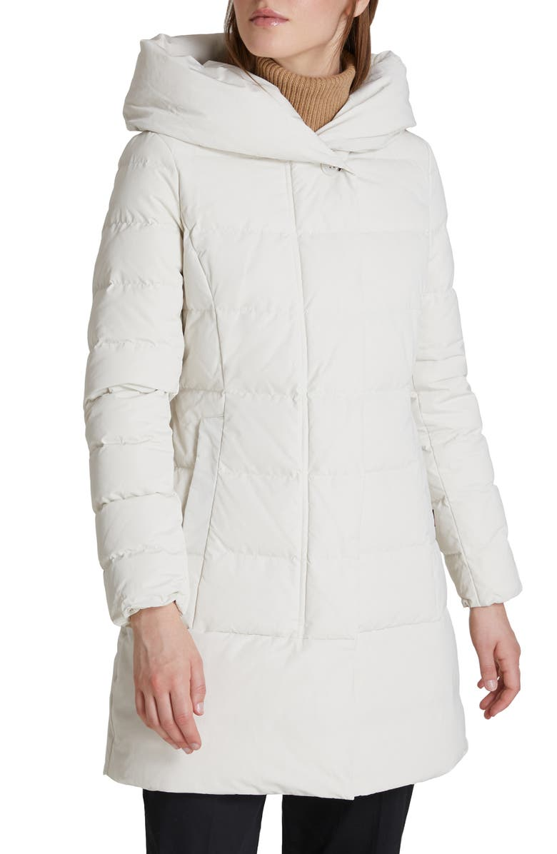WOOLRICH Puffy Prescott 800 Fill Power Down Coat, Main, color, WHITE STONE