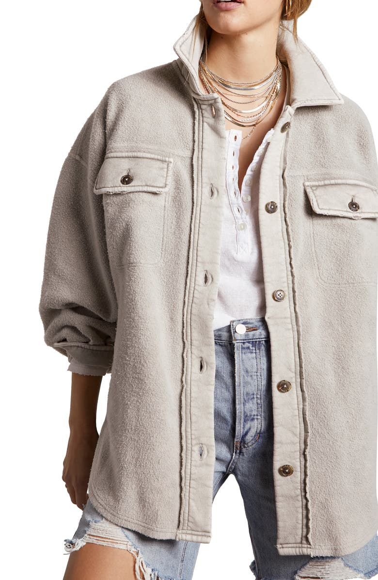 FREE PEOPLE Ruby Jacket, Main, color, STONE