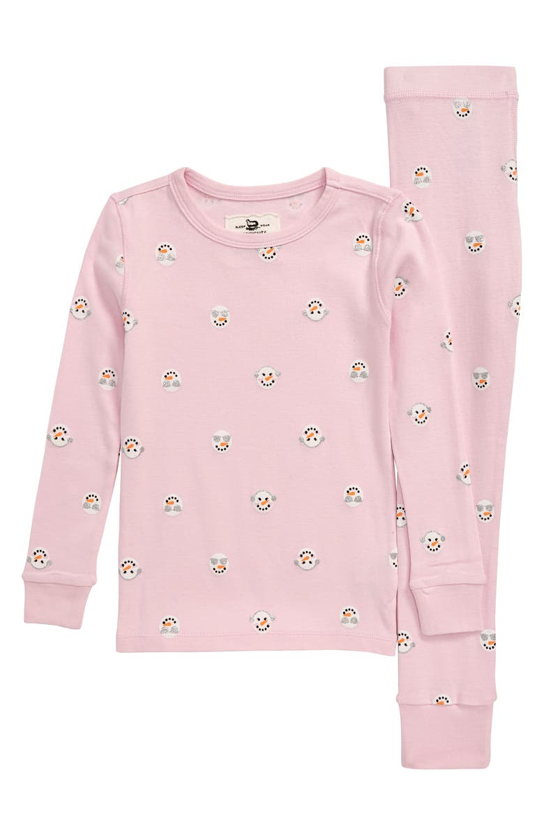 CREWCUTS BY J.CREW Snowmen Fitted Two-Piece Pajamas, Main, color, 500