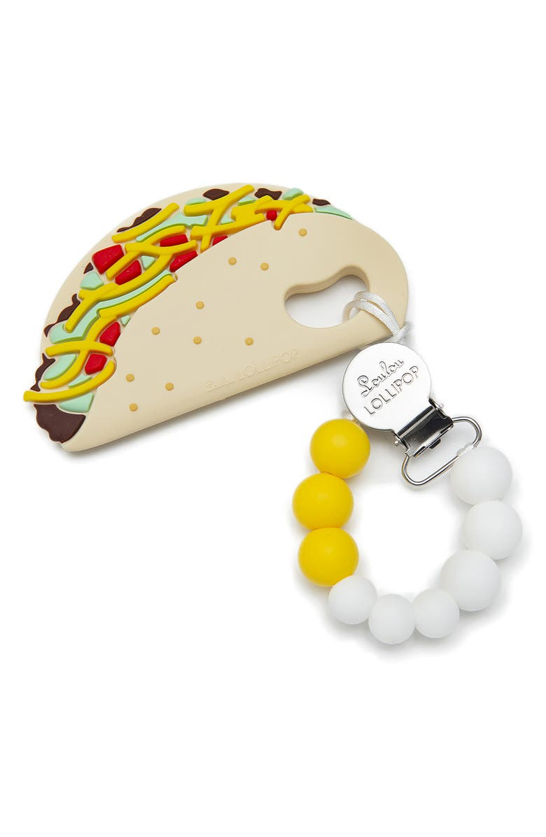 LOULOU LOLLIPOP Taco Teething Toy & Holder, Main, color, 250