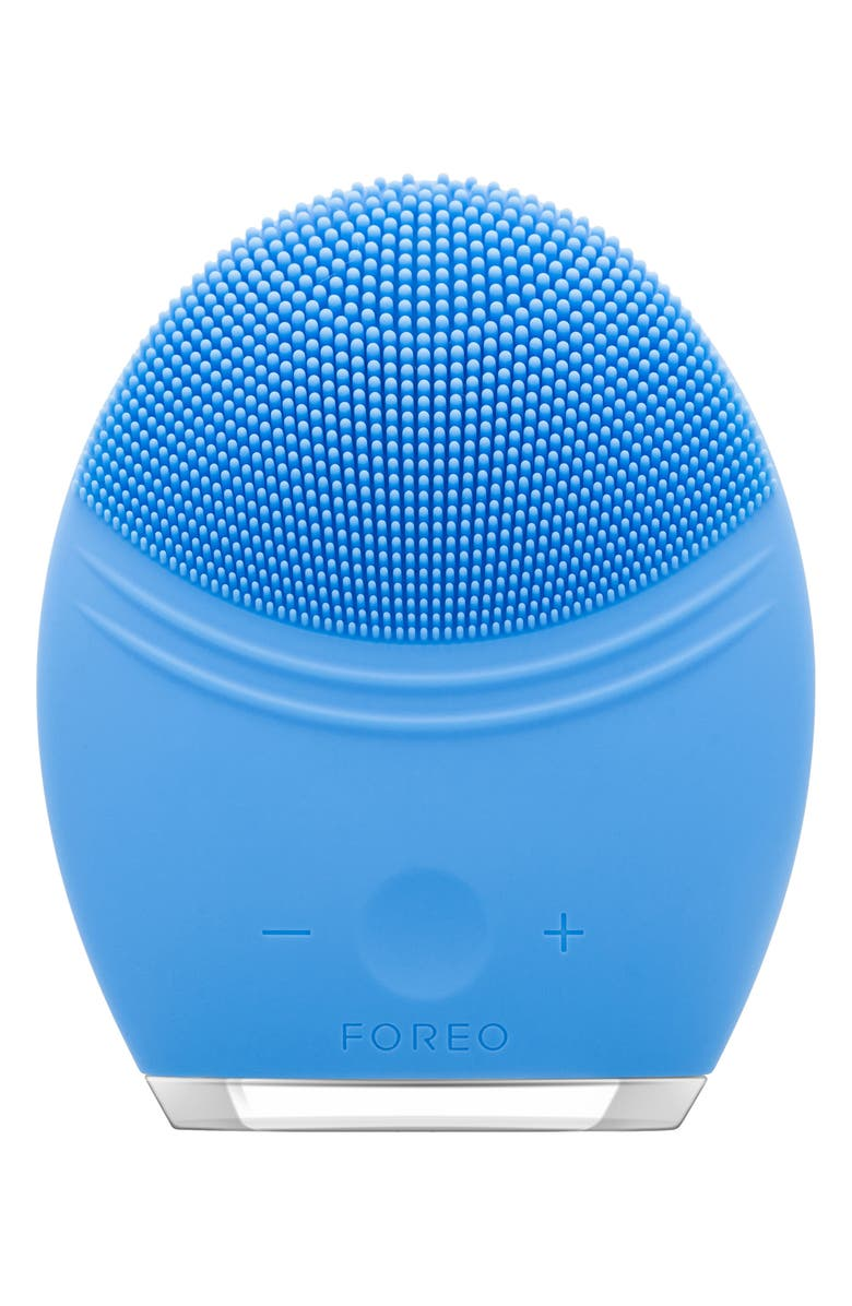 FOREO LUNA<sup>™</sup> 2 Pro Facial Cleansing & Anti-Aging Device, Main, color, AQUAMARINE