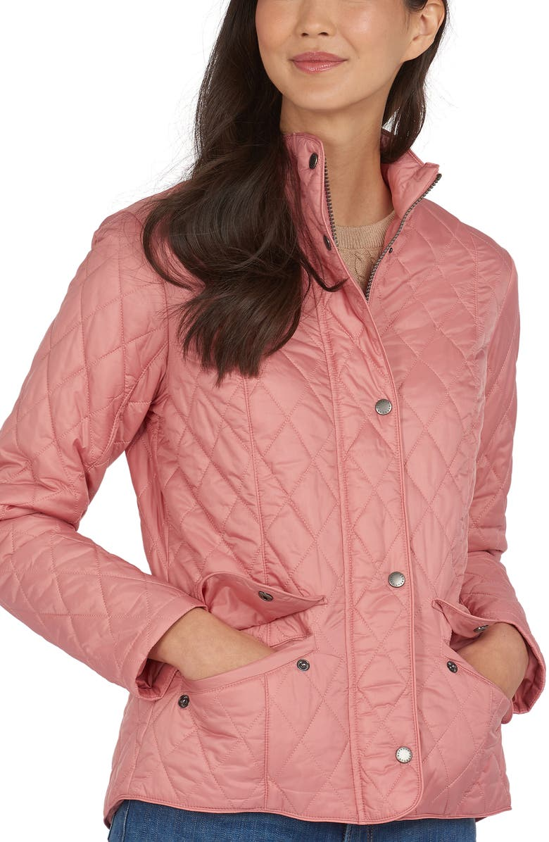 BARBOUR Flyweight Quilted Jacket, Main, color, DUSTY ROSE