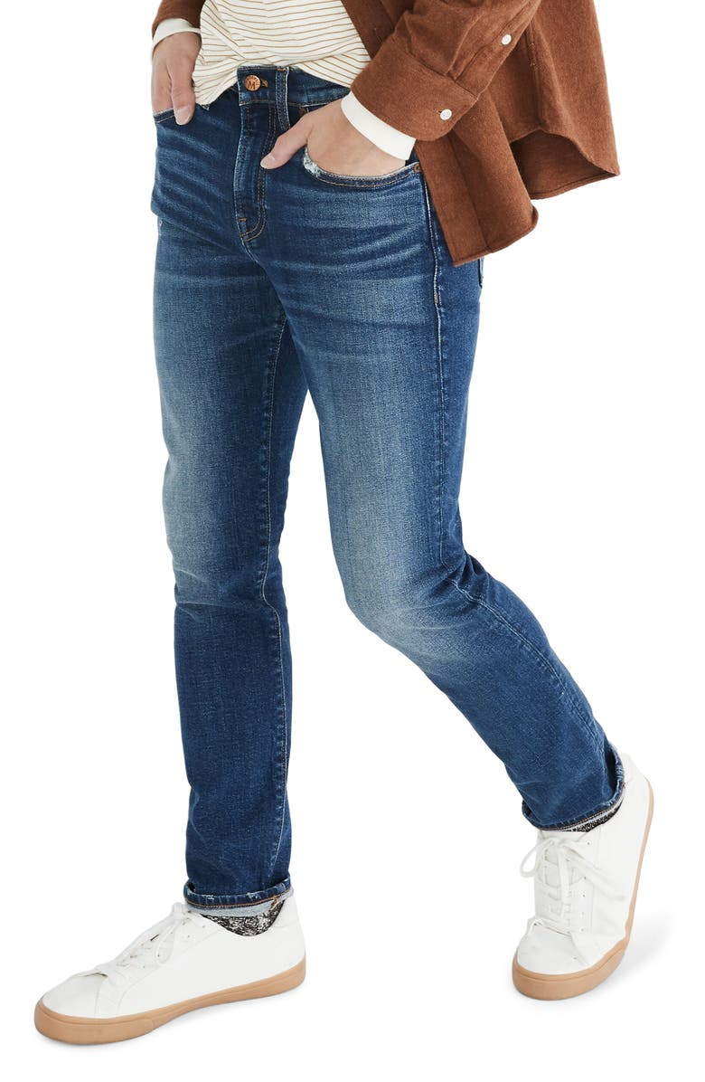 MADEWELL Athletic Slim Jeans, Main, color, 400