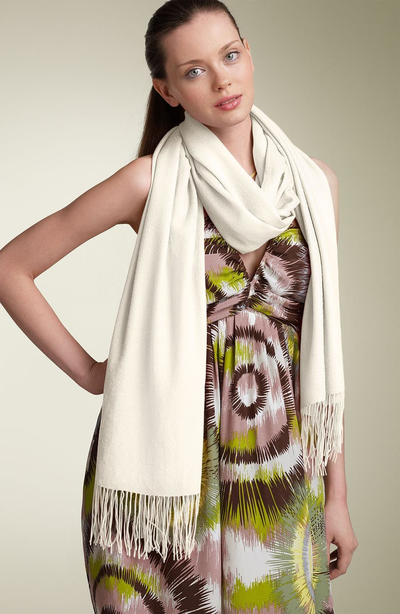 NORDSTROM Tissue Weight Cashmere Wrap, Main, color, 305