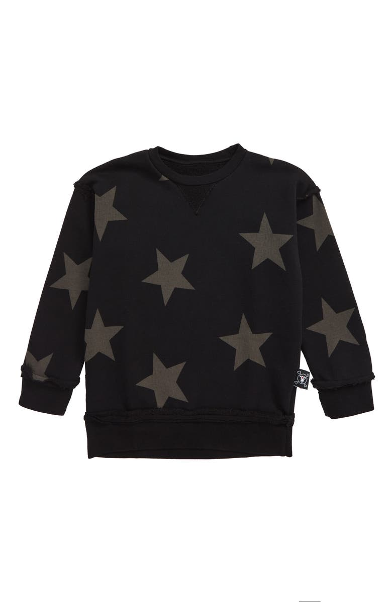 NUNUNU Star Sweatshirt, Main, color, 001