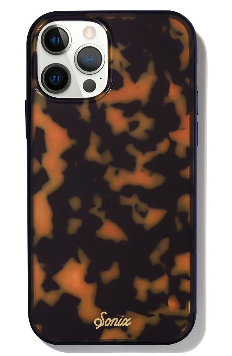 SONIX Magsafe<sup>®</sup> Compatible Tortoise Pattern iPhone 12/12 Pro &12 Pro Max Case, Main, color, Brown