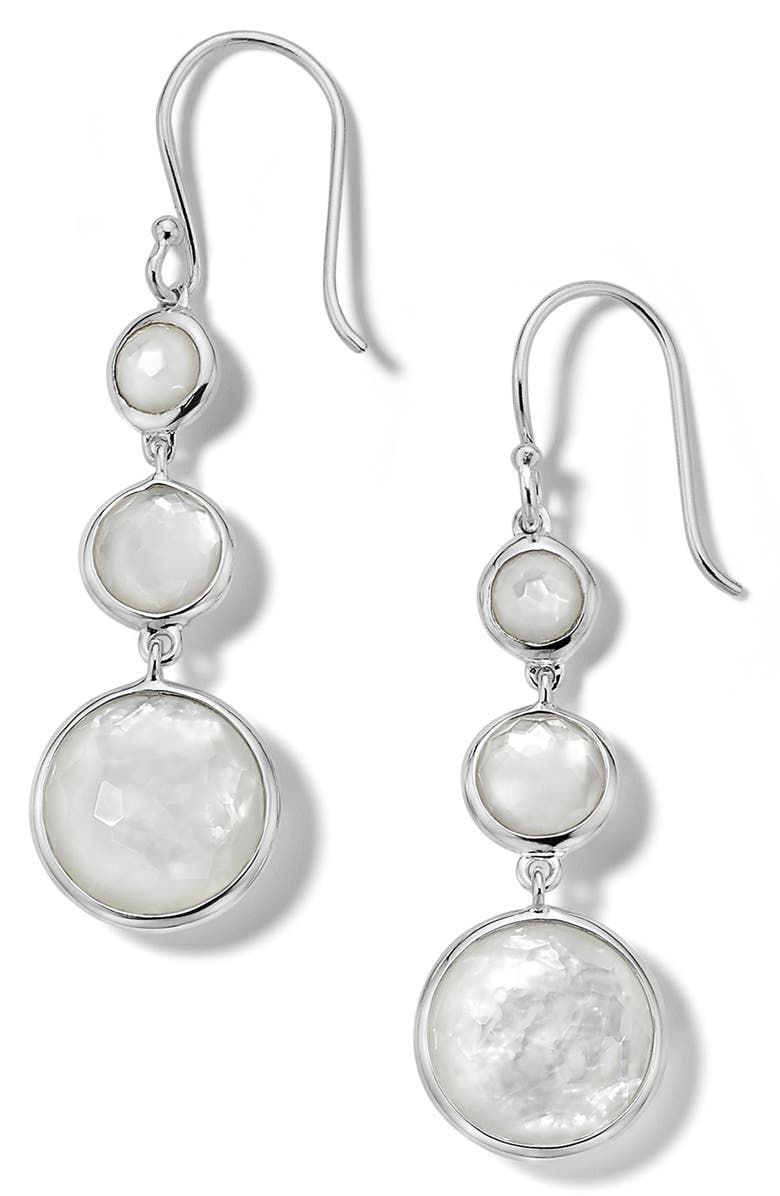 IPPOLITA Lollipop Lollitini Drop Earrings, Main, color, SILVER/ MOTHER OF PEARL