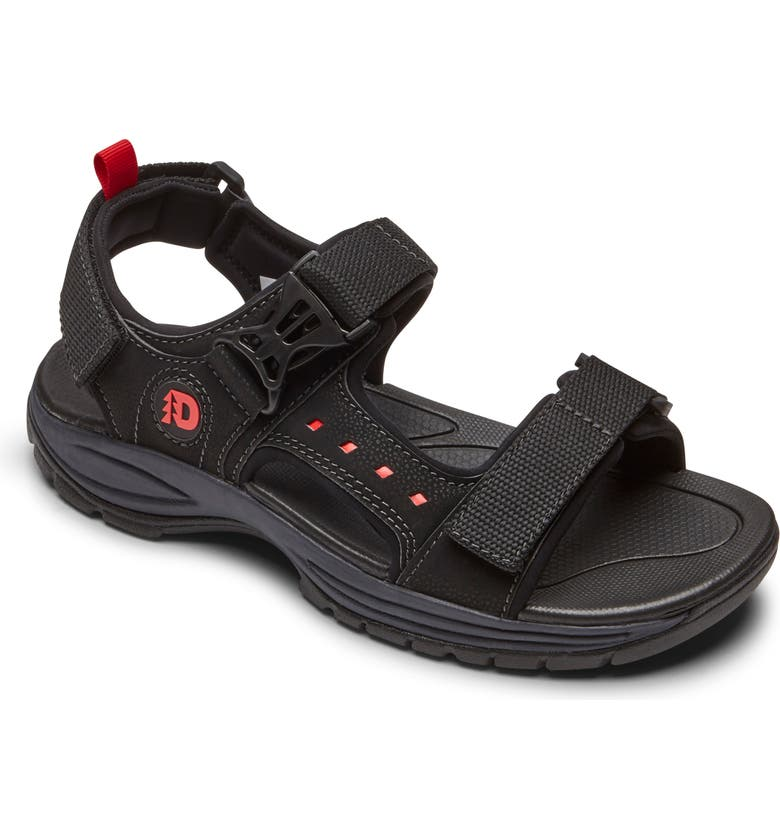 DUNHAM 'Nolan' Sandal, Main, color, BLACK