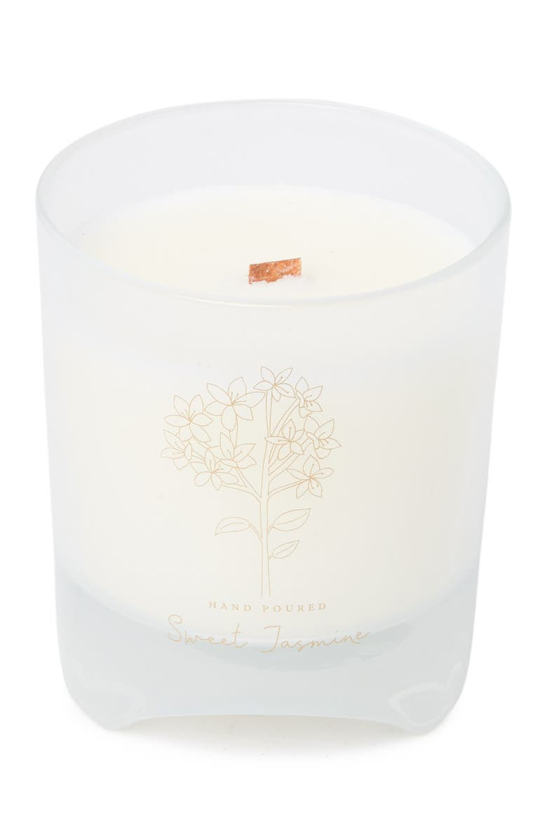 DW HOME Blomma White 12 oz. Sweet Jasmine Candle, Main, color, WHITE