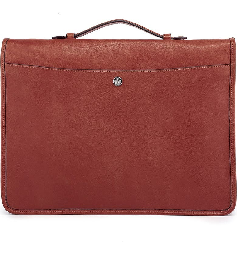 OLD TREND Leather Speedwell Portfolio Bag, Main, color, BROWN