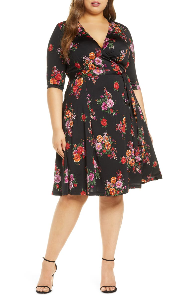 KIYONNA Essential Wrap Dress, Main, color, 003