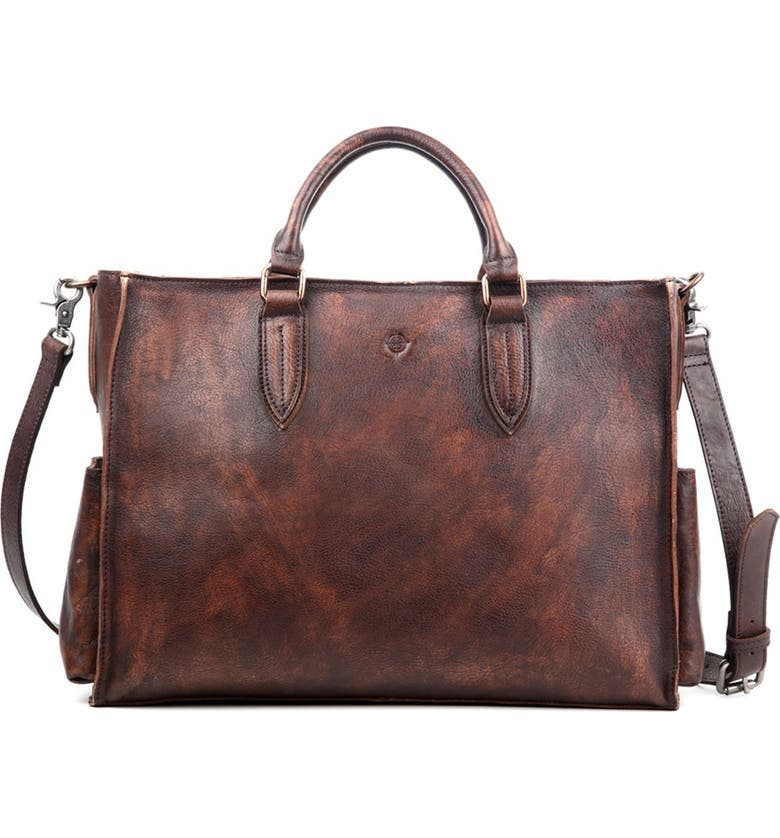 OLD TREND Monte Leather Tote Bag, Main, color, COFFEE