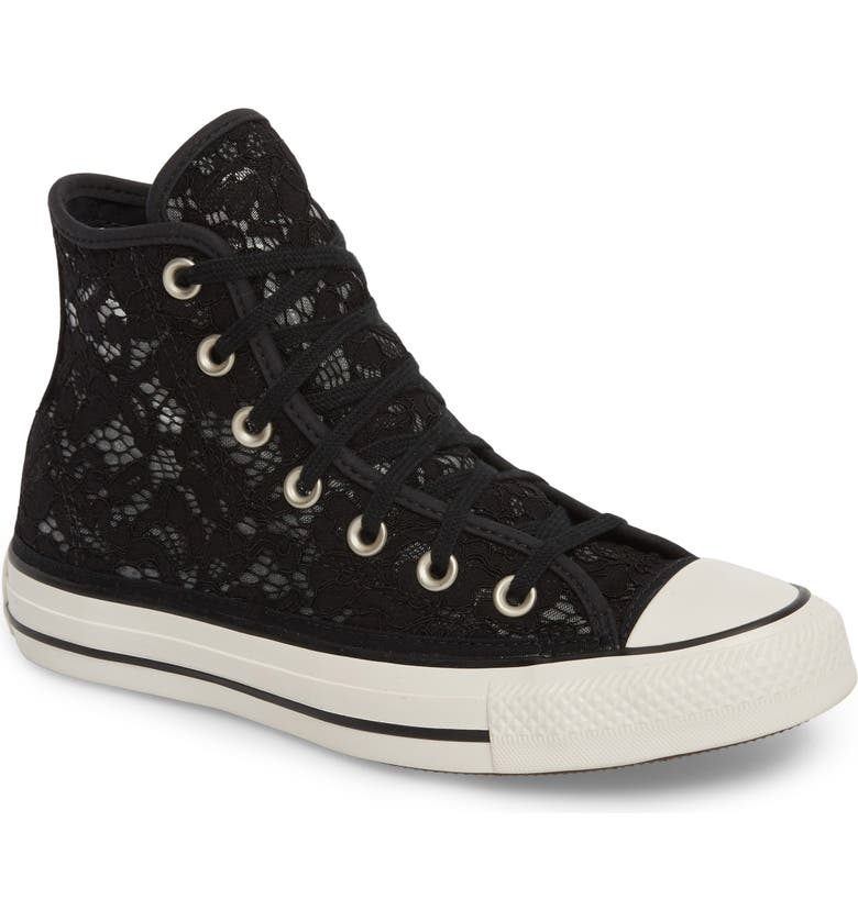 CONVERSE Chuck Taylor<sup>®</sup> All Star Lace High-Top Sneaker, Main, color, 001