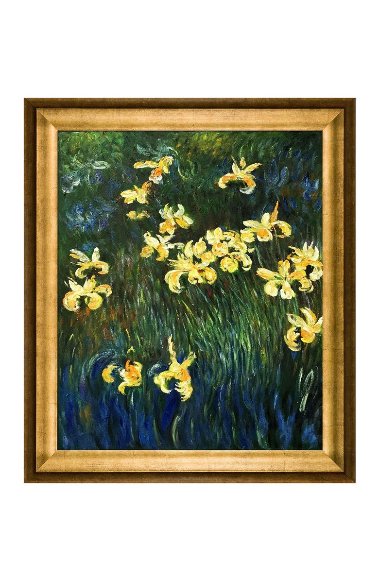 """OVERSTOCK ART Yellow Irises Hand Painted Oil on Canvas - 20"""" x 24"""", Main, color, MULTI"""