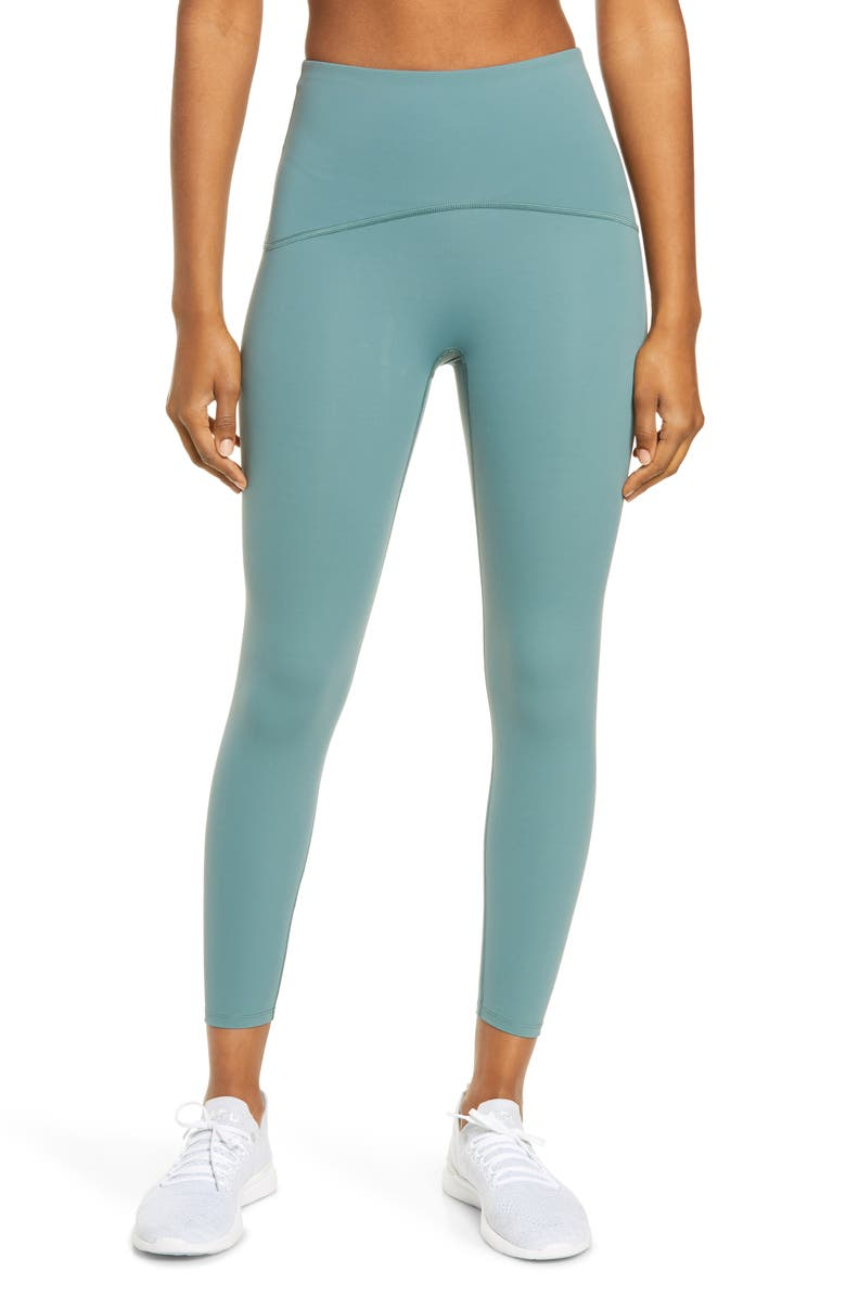SPANX<SUP>®</SUP> Booty Boost Active 7/8 Leggings, Main, color, NORTH ATLANTIC