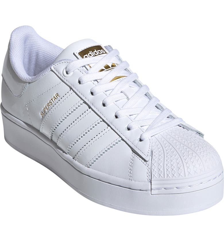 ADIDAS Superstar Bold Sneaker, Main, color, WHITE/ WHITE/ GOLD
