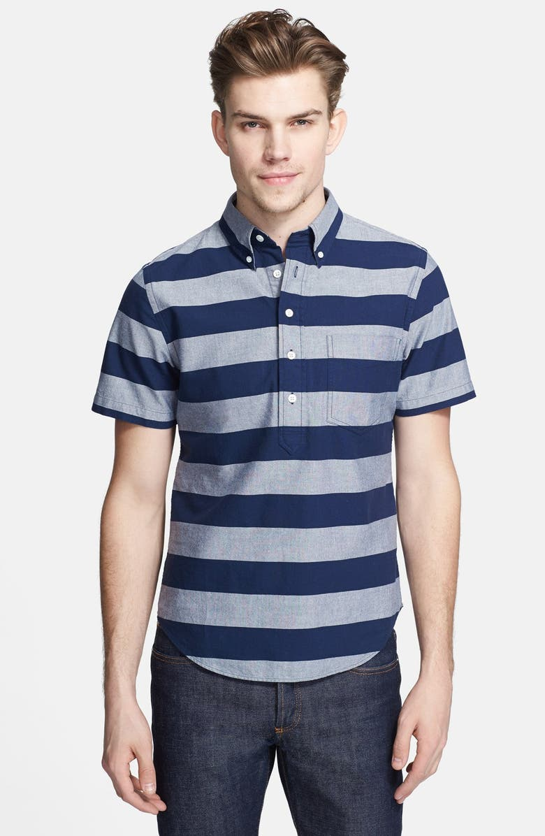 JACK SPADE 'Percy' Short Sleeve Stripe Pullover Shirt, Main, color, 400