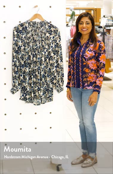 Flowers in Her Hair Smock Detail Tunic Top, sales video thumbnail