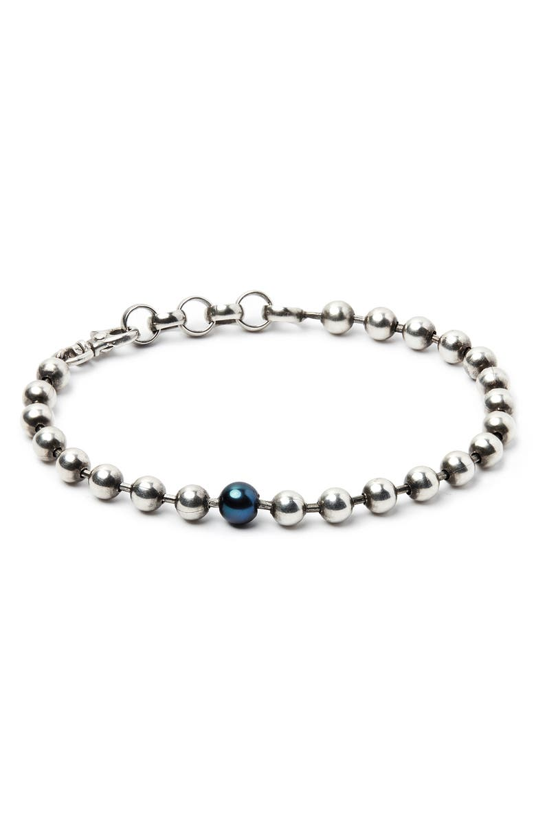 TITLE OF WORK Silver Ball Chain Bracelet, Main, color, 040