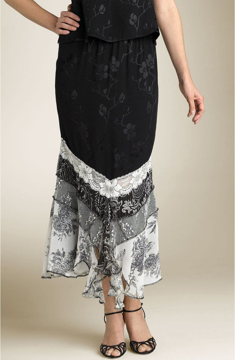 SPENCER ALEXIS Long Tier Skirt, Main, color, AXQ
