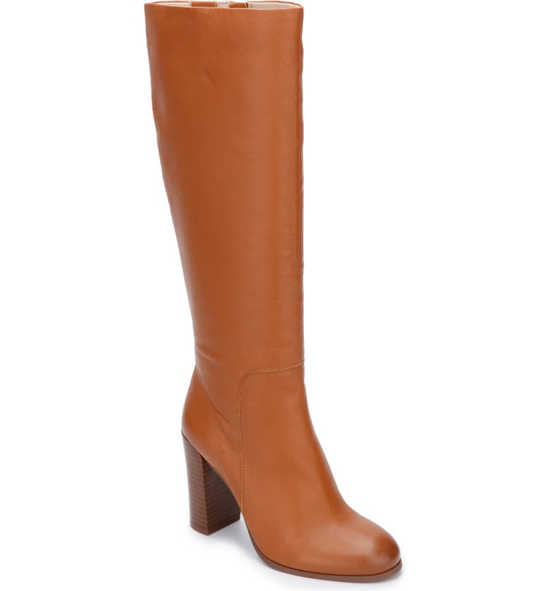KENNETH COLE NEW YORK Justin Water Resistant Knee High Boot, Main, color, COGNAC LEATHER