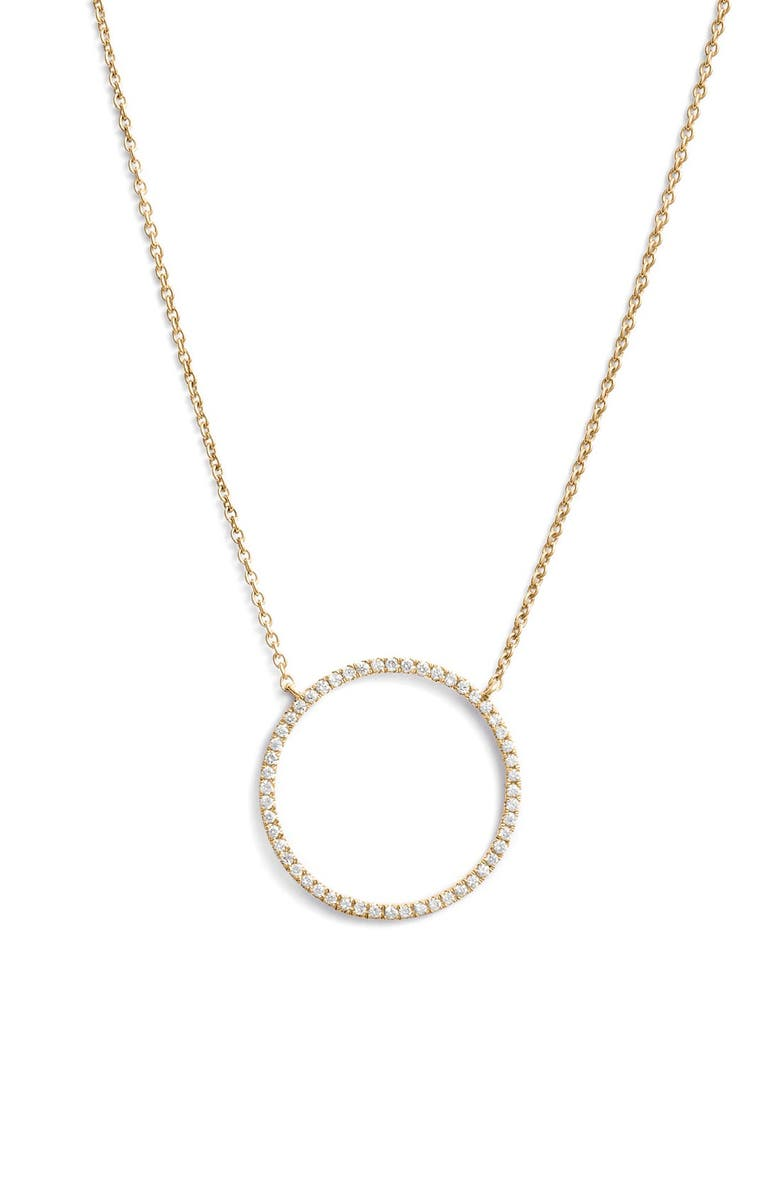 BONY LEVY Simple Obsessions Circle Pendant Necklace, Main, color, YELLOW GOLD