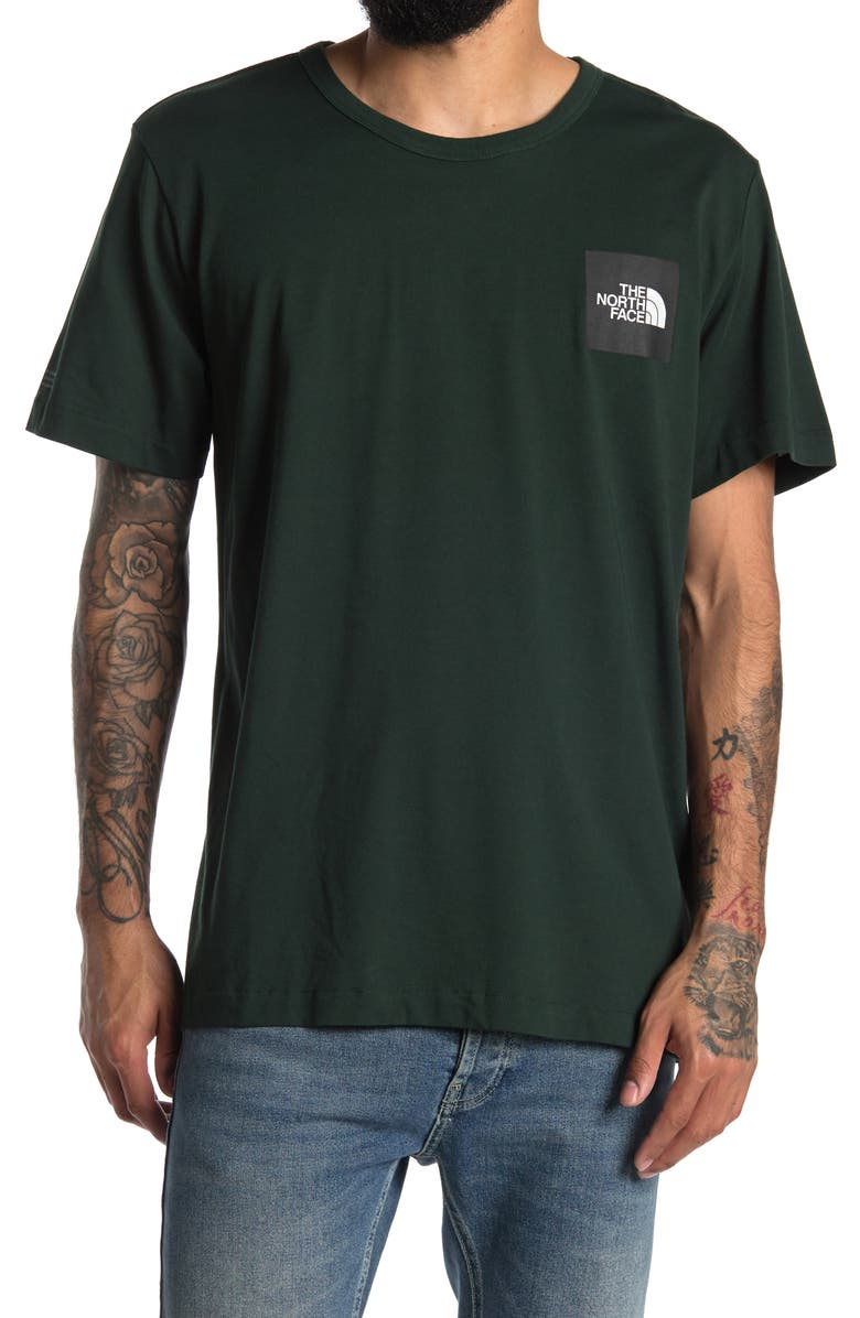 THE NORTH FACE Crew Neck Short Sleeve Graphic T-Shirt, Main, color, SCARAB GRE