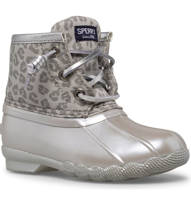 SPERRY Saltwater Water Resistant Boot, Main, color, GREY ANIMAL