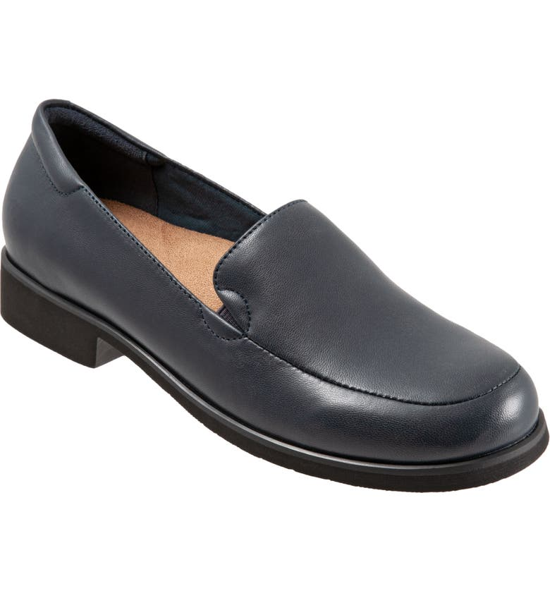 TROTTERS Jaiden Loafer, Main, color, NAVY LEATHER