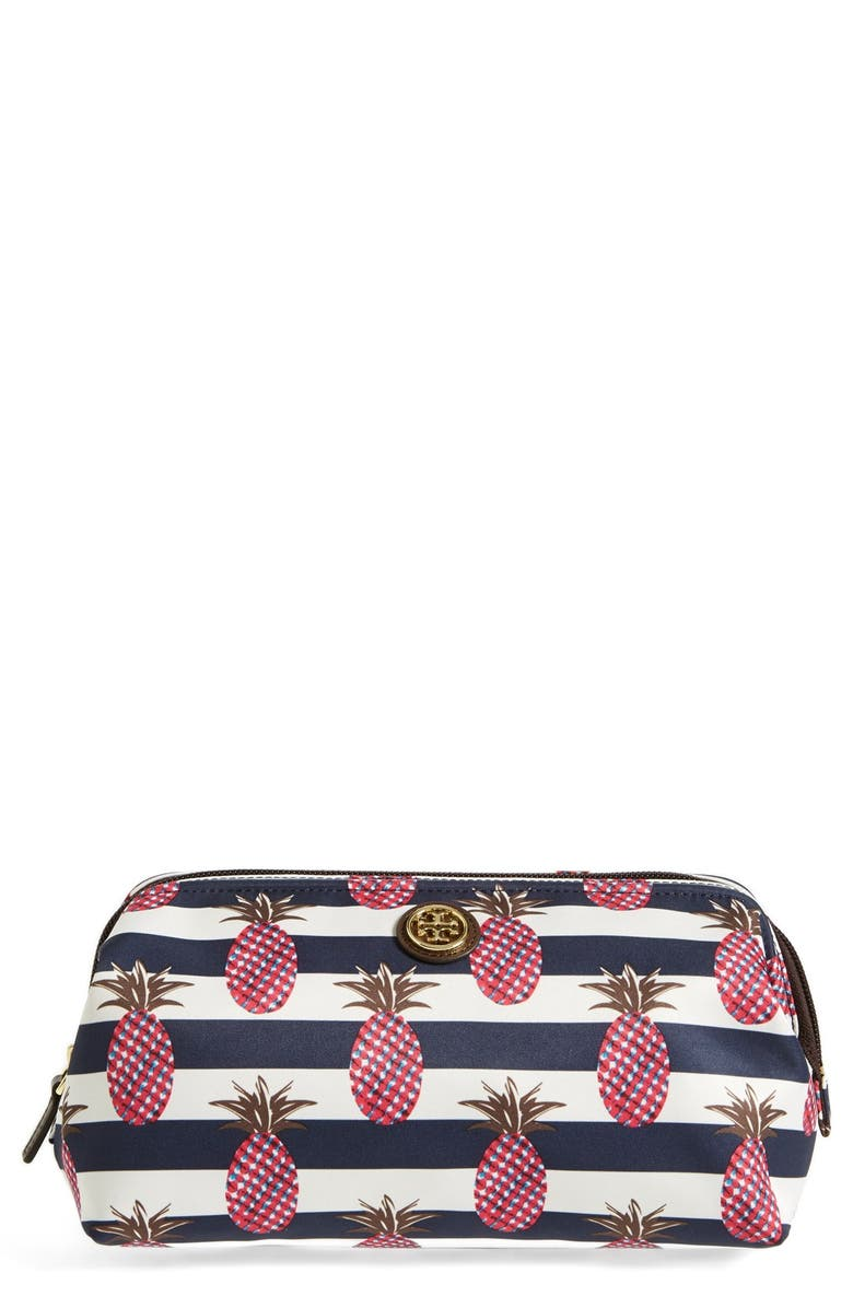 TORY BURCH 'Large' Cosmetics Case, Main, color, 400