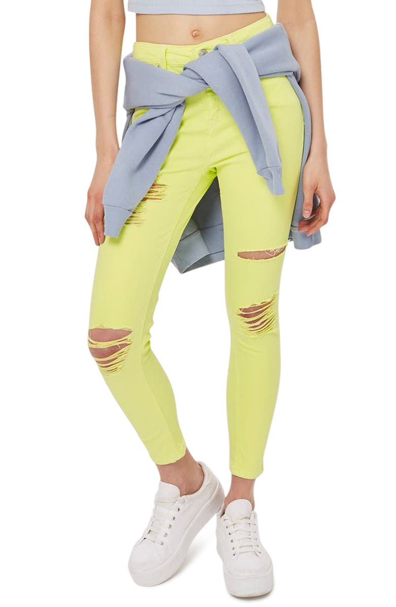 TOPSHOP Jamie Ripped Skinny Jeans, Main, color, 320