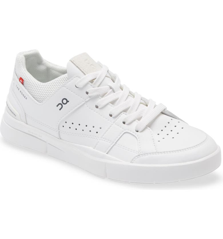 ON THE ROGER Clubhouse Tennis Sneaker, Main, color, ALL WHITE